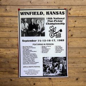 Walnut Valley Festival Poster - 1989