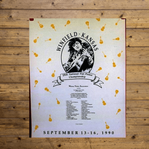 Walnut Valley Festival Poster - 1990