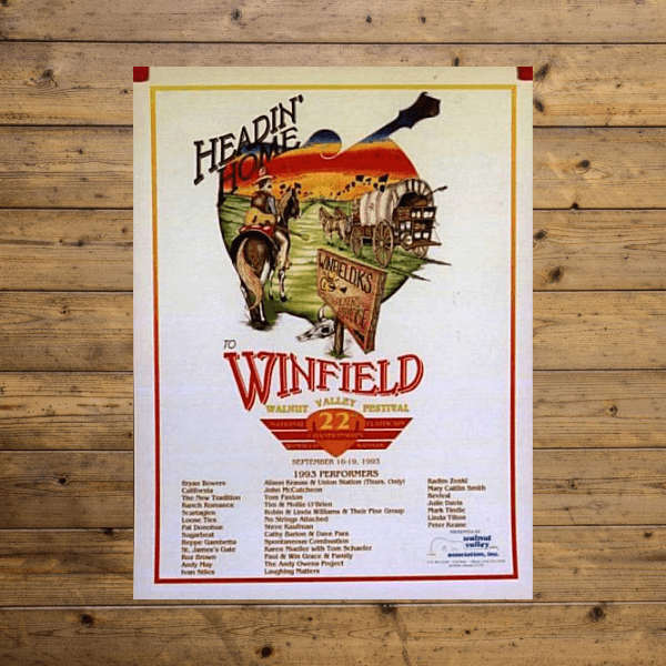 Walnut Valley Festival Poster - 1993
