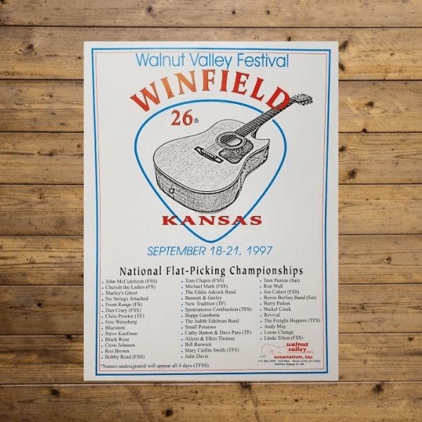 Festival Poster - 1997 - 26th Walnut Valley Festival