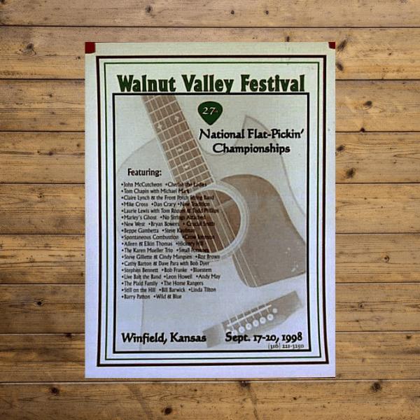 Walnut Valley Festival Poster - 1998