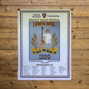 Walnut Valley Festival Poster - 1999