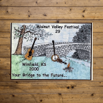 Walnut Valley Festival Poster - 2000
