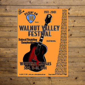 Walnut Valley Festival Poster - 2001