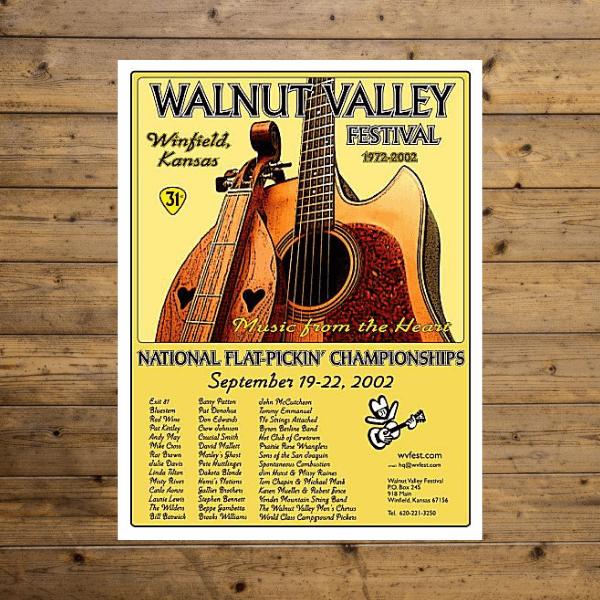 Walnut Valley Festival Poster - 2002