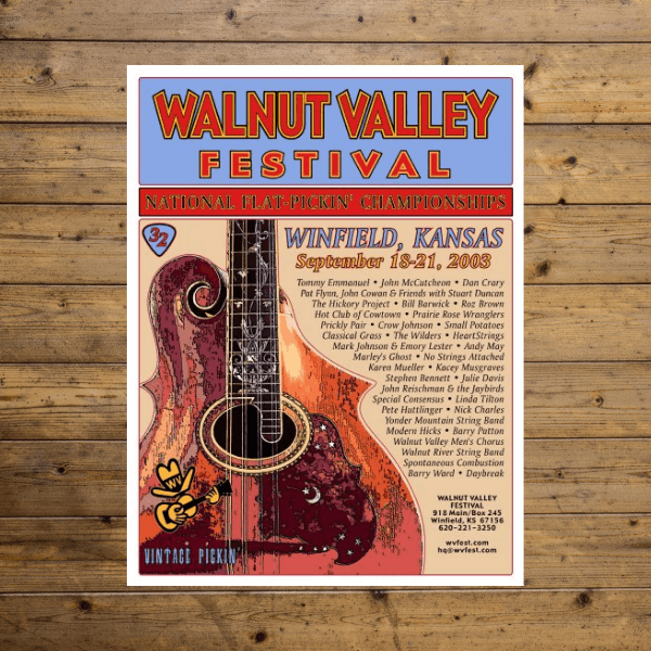 Walnut Valley Festival Poster - 2003