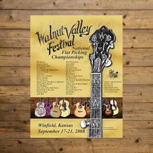 Walnut Valley Festival Poster - 2008