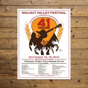 Walnut Valley Festival Poster - 2012