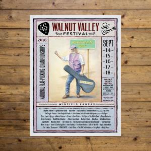 Walnut Valley Festival Poster - 2016