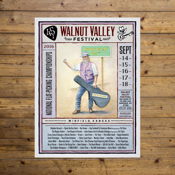 Walnut Valley Festival Poster - 2016