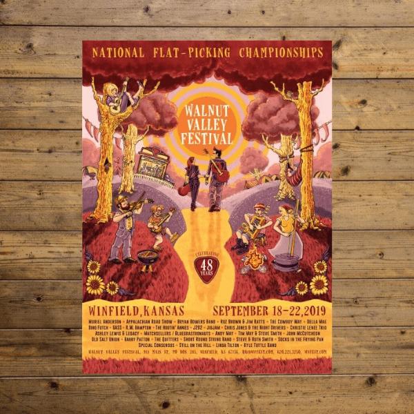 Festival Poster - 2019 - 48th Walnut Valley Festival
