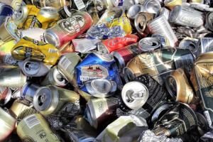 Aluminum cans can be recycled as part of the campground recycling program.