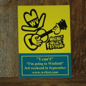 "Refrigerator Magnet - show image of Feisty and reads ""I can't, I'm going to Winfield. 3rd weekend in September, www.wvfest.com"""
